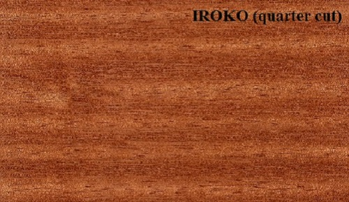 Iroko quartered wood veneer