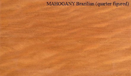 Mahogany Brazilian Quarter Figured Wood Veneer