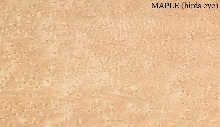 Maple Birds-eye Wood Veneer