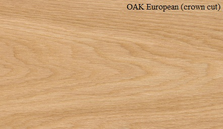 Oak European Crown Cut