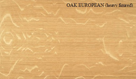 Oak European Quarter Cut Heavy Figured Wood Veneer