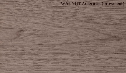 Walnut American crown wood veneer
